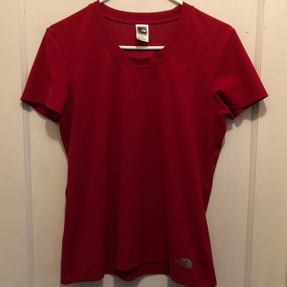 5371ec0148 THE NORTH FACE Red Short Sleeve Workout Top